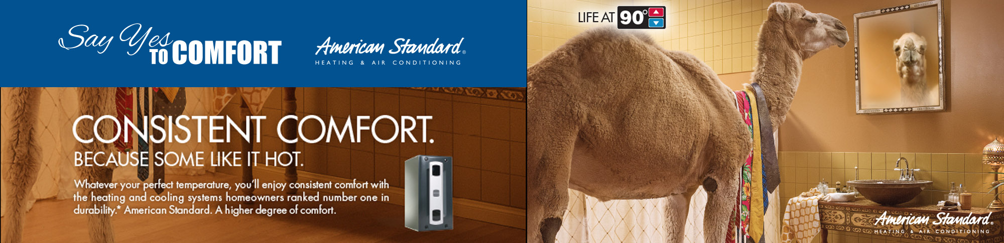 For consistent comfort, install a new American Standard Furnace