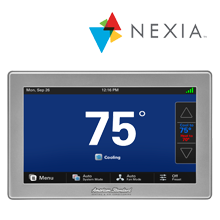 American Standard is partnered with Nexia Home Intelligence Thermostat systems.